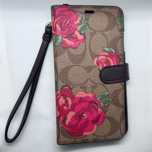 Sale Never used Coach I Phone XS Max case Wristlet